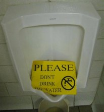 Don't drink the delicious pee water
